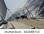 yacht sailing in atlantic ocean.... | Shutterstock . vector #362688713