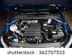 new car engine and parts under... | Shutterstock . vector #362707523