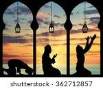 concept of the islamic religion.... | Shutterstock . vector #362712857
