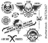 set of vintage pirate emblems ... | Shutterstock .eps vector #362726267