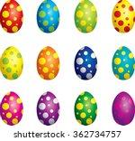 dotted eggs | Shutterstock .eps vector #362734757