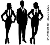 business people standing... | Shutterstock .eps vector #362781227