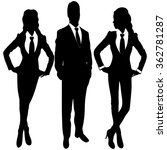 business people standing... | Shutterstock .eps vector #362781287