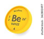 beryllium chemical element sign | Shutterstock . vector #362802497
