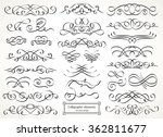 calligraphic design elements. | Shutterstock .eps vector #362811677