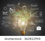 bright idea for business growth | Shutterstock . vector #362812943