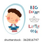 greeting card  big dream little ... | Shutterstock .eps vector #362816747