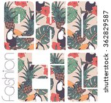 tropical graphic with slogan in ... | Shutterstock .eps vector #362829587