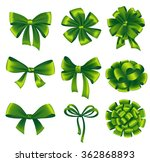 set of green gift bows with...   Shutterstock .eps vector #362868893