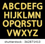 cute vintage golden glitter... | Shutterstock .eps vector #362871413