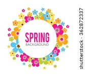spring sales background with... | Shutterstock .eps vector #362872337
