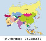map of asia and its countries | Shutterstock .eps vector #362886653