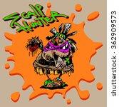 color vector print in cartoon... | Shutterstock .eps vector #362909573
