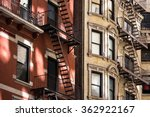 old apartment building with... | Shutterstock . vector #362922167