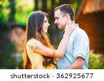 beautiful couple in love boy... | Shutterstock . vector #362925677