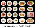 set of various appetizers on... | Shutterstock . vector #362926013