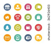 e shopping icons    fresh... | Shutterstock .eps vector #362926403