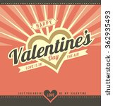 happy valentine's day greeting... | Shutterstock .eps vector #362935493