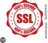 100  secure ssl stamp.vector.   Shutterstock .eps vector #362956913