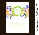 invitation with floral... | Shutterstock .eps vector #362964167