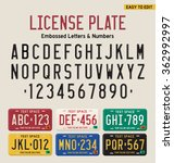 3d License Plate Font And...