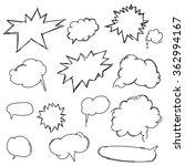 set doodle shapes for message.... | Shutterstock . vector #362994167