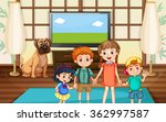 happy children in the room... | Shutterstock .eps vector #362997587