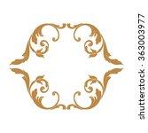 premium gold vintage baroque... | Shutterstock .eps vector #363003977