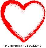 Grunge Heart . Red Heart ....