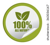green circle 100  all natural... | Shutterstock . vector #363036167