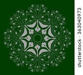 ornamental round organic... | Shutterstock .eps vector #363040973