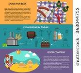 beer banners set | Shutterstock . vector #363044753