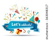 celebration emblem illustration | Shutterstock . vector #363048317