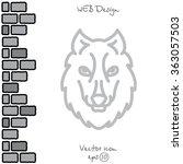 web line icon. wolf  wild... | Shutterstock .eps vector #363057503