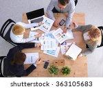 image of business partners... | Shutterstock . vector #363105683