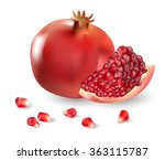 pomegranate and pomegranate...   Shutterstock .eps vector #363115787