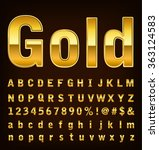 3d illustration of gold font... | Shutterstock .eps vector #363124583