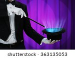 midsection of magician holding... | Shutterstock . vector #363135053
