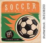 soccer vector poster template.... | Shutterstock .eps vector #363138203