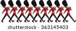british queens guardsmen with... | Shutterstock .eps vector #363145403