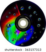 Colorful Water Drops On Cd Dvd...