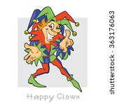 Jester. Crafty Cheerful Clown....