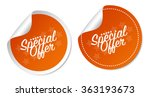 special offer stickers | Shutterstock .eps vector #363193673