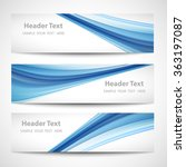 abstract header blue wave white ... | Shutterstock .eps vector #363197087