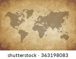 map of the world | Shutterstock . vector #363198083