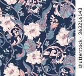 vintage floral baroque seamless ... | Shutterstock .eps vector #363216143