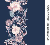 vintage floral baroque seamless ... | Shutterstock .eps vector #363224207