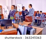 group business people in office. | Shutterstock . vector #363245363