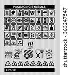 set of packaging symbols  | Shutterstock .eps vector #363247547