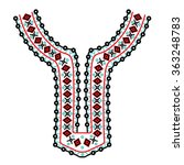 ethnic neck embroidery for... | Shutterstock .eps vector #363248783